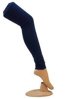 Picture of Ravishing navy blue cotton leggings
