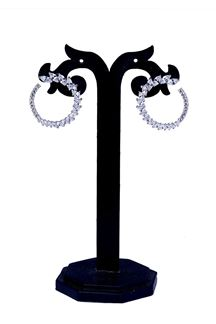 Picture of Circular silver stone studded earring