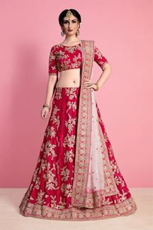 Picture of Exemplary Dark pink Designer Lehenga